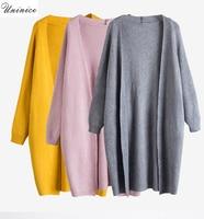 Ladies Sweaters Open Cardigan Sweater Coat Women Long Sleeve Autumn Spring Winter Warm Knitted Outwear Jacket