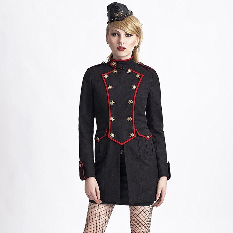 Christmas Military Black Jacket Gothic font b Women b font Tailored font b Suit b font