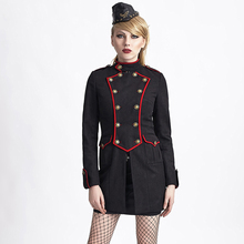 Christmas Army Black Jacket Gothic Ladies Tailor-made Go well with Mud Three-quarter Outerwear Coat