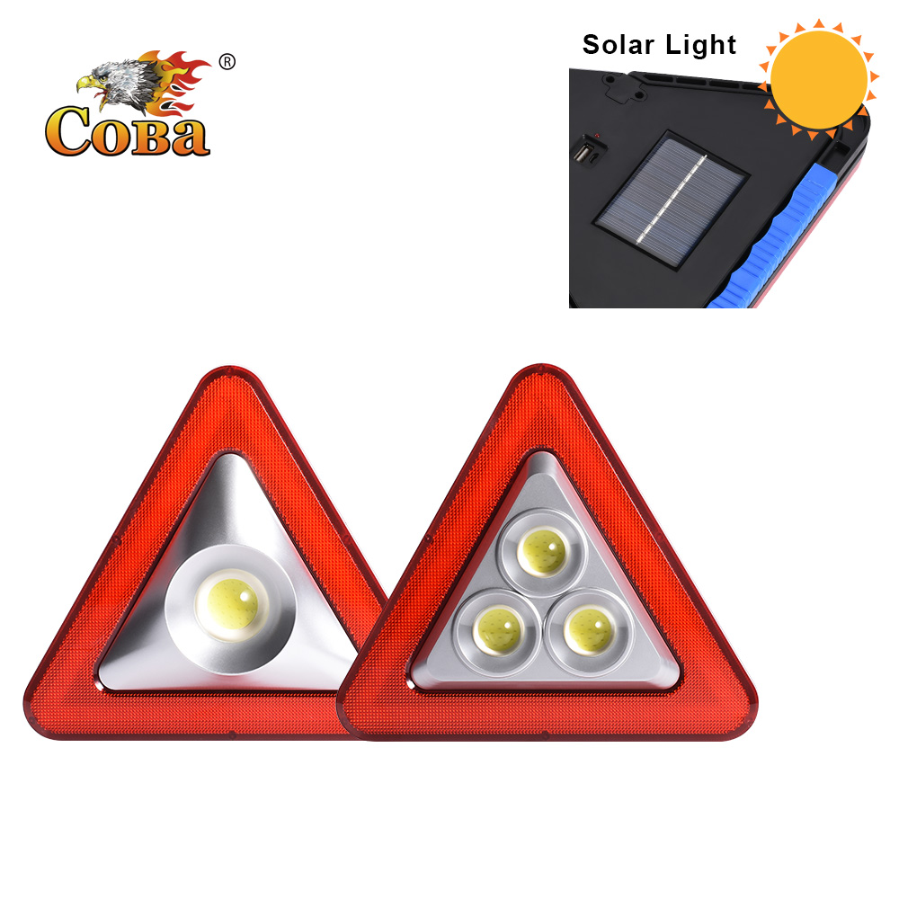 Coba cob solar work light power bank usb rechargeable portable light led work light 5 modes built in battery waterproof plastic