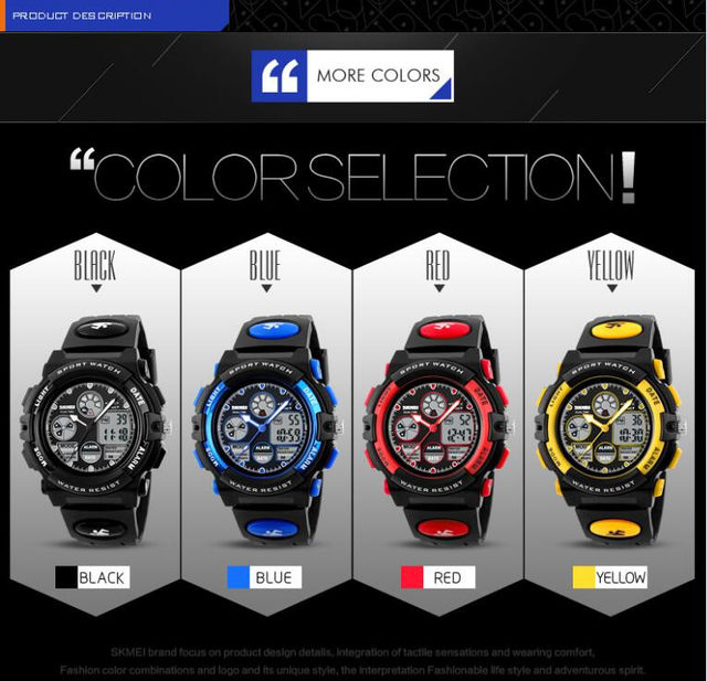 130bde10410 SKMEI Relógios das Crianças Moda Esporte Militar Dual Time Digital LED  relógio de Pulso À Prova D  Água Relógio de Quartzo Para Meninos Meninas ...