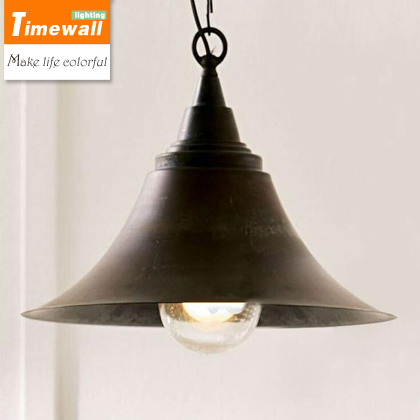 2016 Luminaire Km Industrial Horn Pendant Light Simple Matte Black Lights Indoor And Outdoor Hanging Lightings