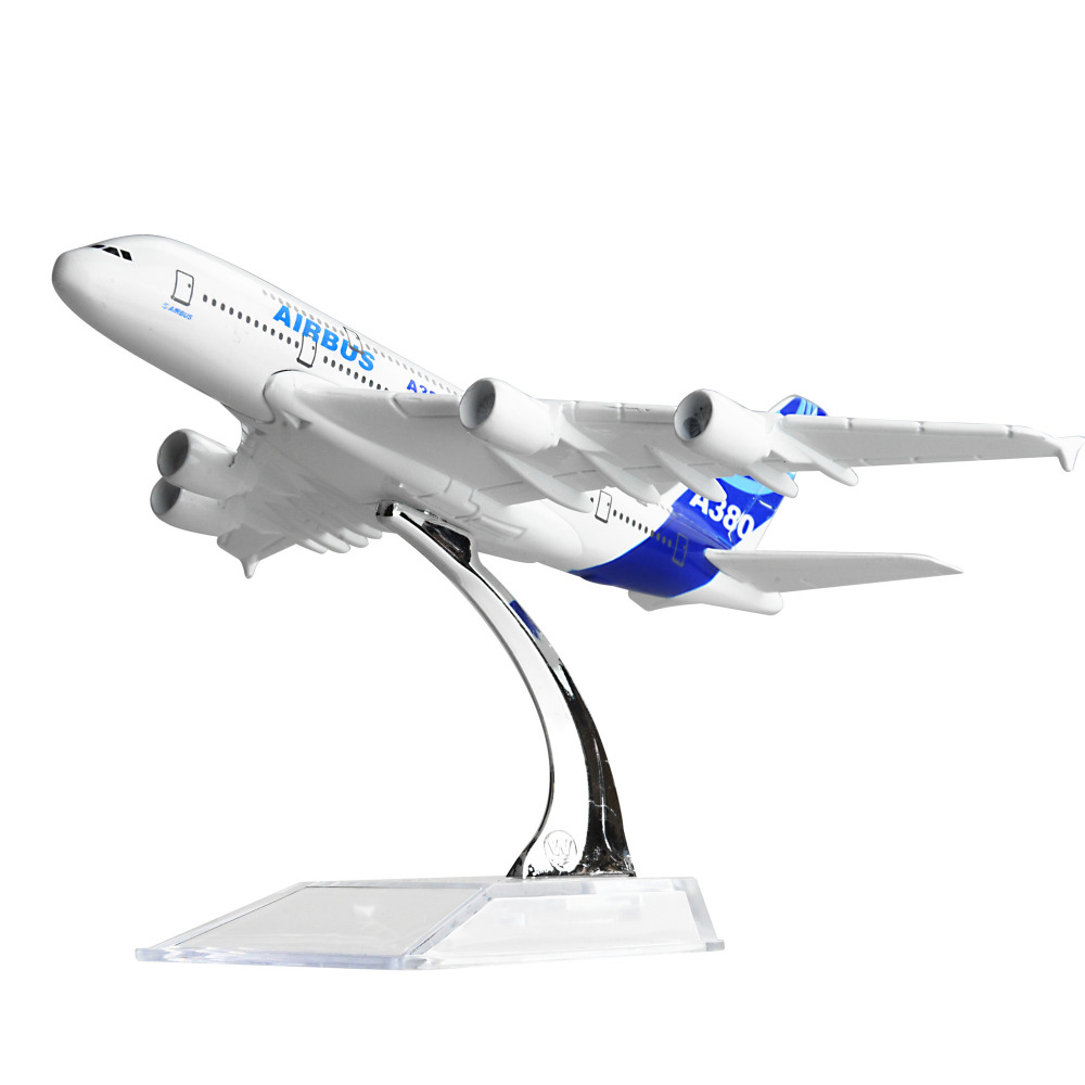 <font><b>AIRBUS</b></font> <font><b>A380</b></font> 16cm 15cm alloy metal <font><b>model</b></font> decorations chiristmas gift PLANE <font><b>MODEL</b></font> Free shipping image