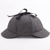 Hotselling Sherlock Holmes Detective Baseball Hat Vintage Deerstalker Unisex Cap Two Brims Strip Big Small Size