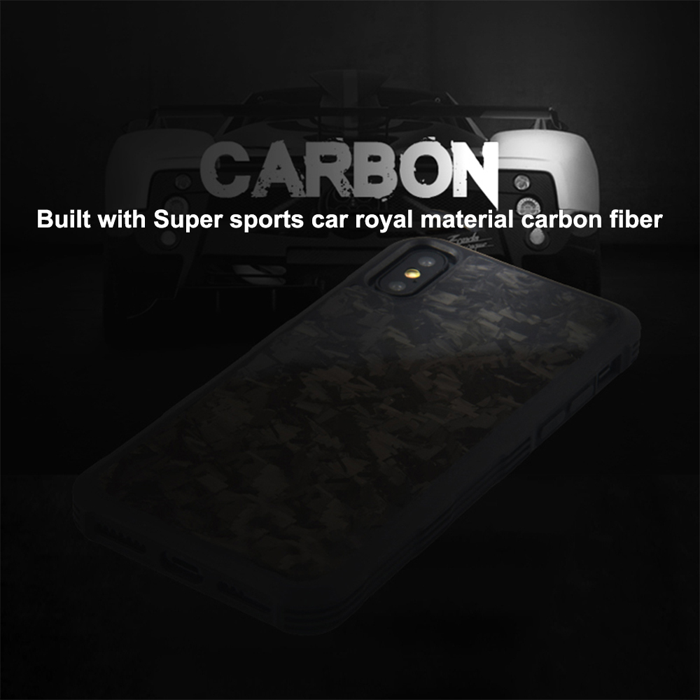 For iPhone X XS XR XS MAX Case Cover 100 Business Real Forged Carbon Fiber Case