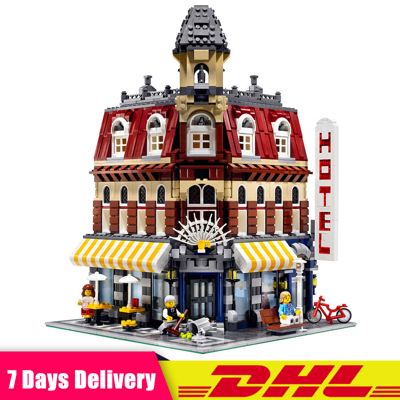 Classic Cafe Corner Model Building Kits Bricks Blocks Educational Toys Children Christmas Gifts Compatible LegoINGlys 10182