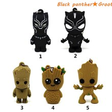 Superhero Black Panther/Groot USB 2.0 flash drive Pen Drive Memory stick 8GB pendrive 4GB 16GB 32GB 64GB Guardians of the Galaxy