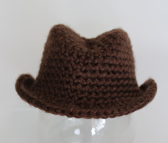 3d0da8895e8 Brown Fedora Hat Baby Boy Photo Prop Cowboy Hat-in Hats   Caps from ...