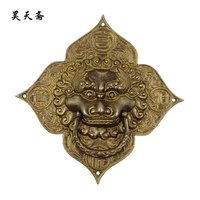 [Haotian vegetarian] copper beast tiger knocker handle / antique furniture pieces / Chinese fitting HTA 010