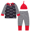 2pcs Cotton Autumn Baby Clothing Set Girl Outfit Deer head printed Newborn Boys Clothes Set Babes Toddler Long Shirt Pants