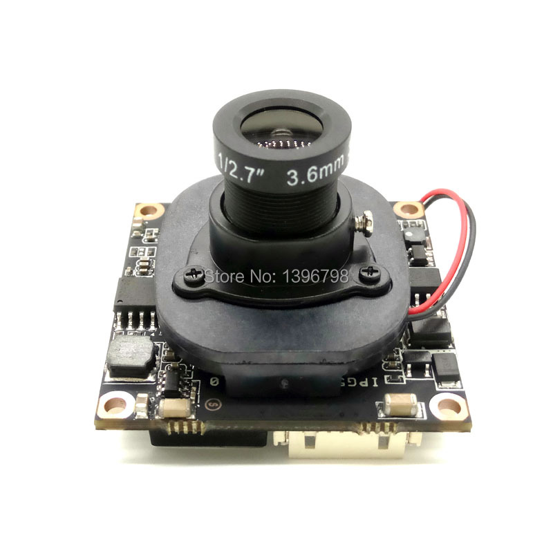 2.0MP IPC 1080P ONVIF P2P 1 / 2.7 HI3516C+OV2710 Night vision Network Surveillance 3MP 3.6mm lens HD IP camera Module POE Cable