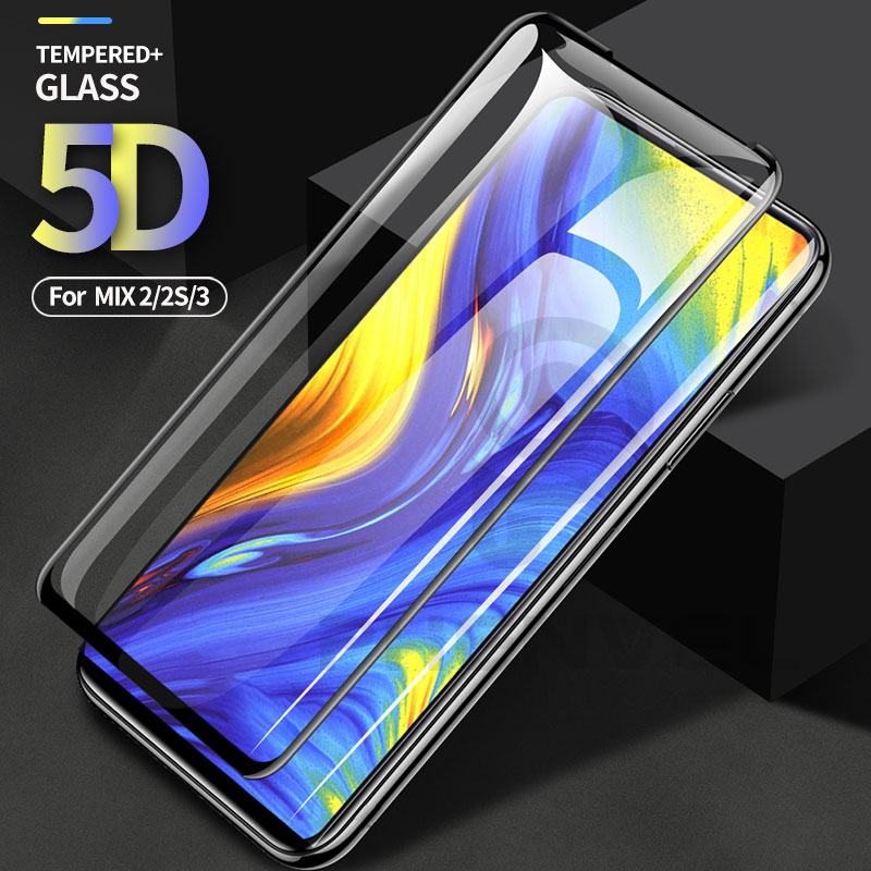 Oleophobic Protective Glass For Xiaomi Mi Mix 3 2s Full Cover Screen Protector Xiomi Mi Mix 2s 3 2 5D Tempered Glass Film Mix3
