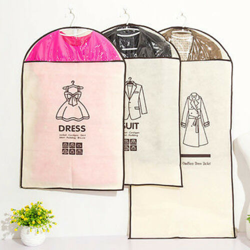 1pc lot Clothes Garment Suit Cover Bags Dustproof Hanger Storage Protector Travel Storage Organizer Case in Clothing Covers from Home Garden