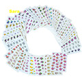 50 unids flores diseños de transferencia de agua etiqueta engomada del clavo de uñas marca de agua pegatinas tatuajes temporales tatuajes de manicura Beauty Tools XF1101-1150