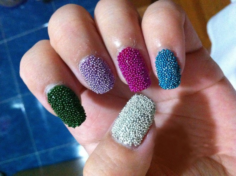 Nail Art With Beads Nailarts Ideas