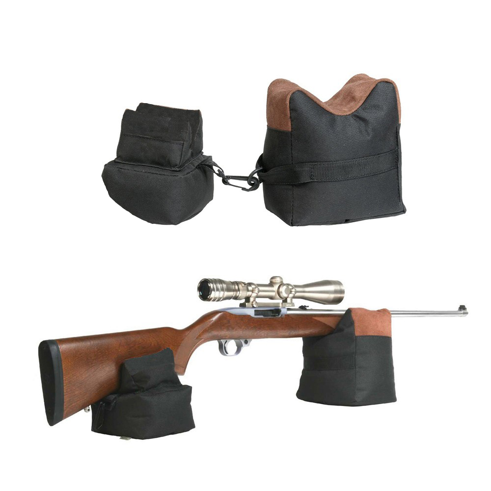 Hunting Gun Shooting Target Front & Rear Bench Rest Bag Bracket Grab Bag Unfilled Stand Hunting Shotgun Gun Accessories