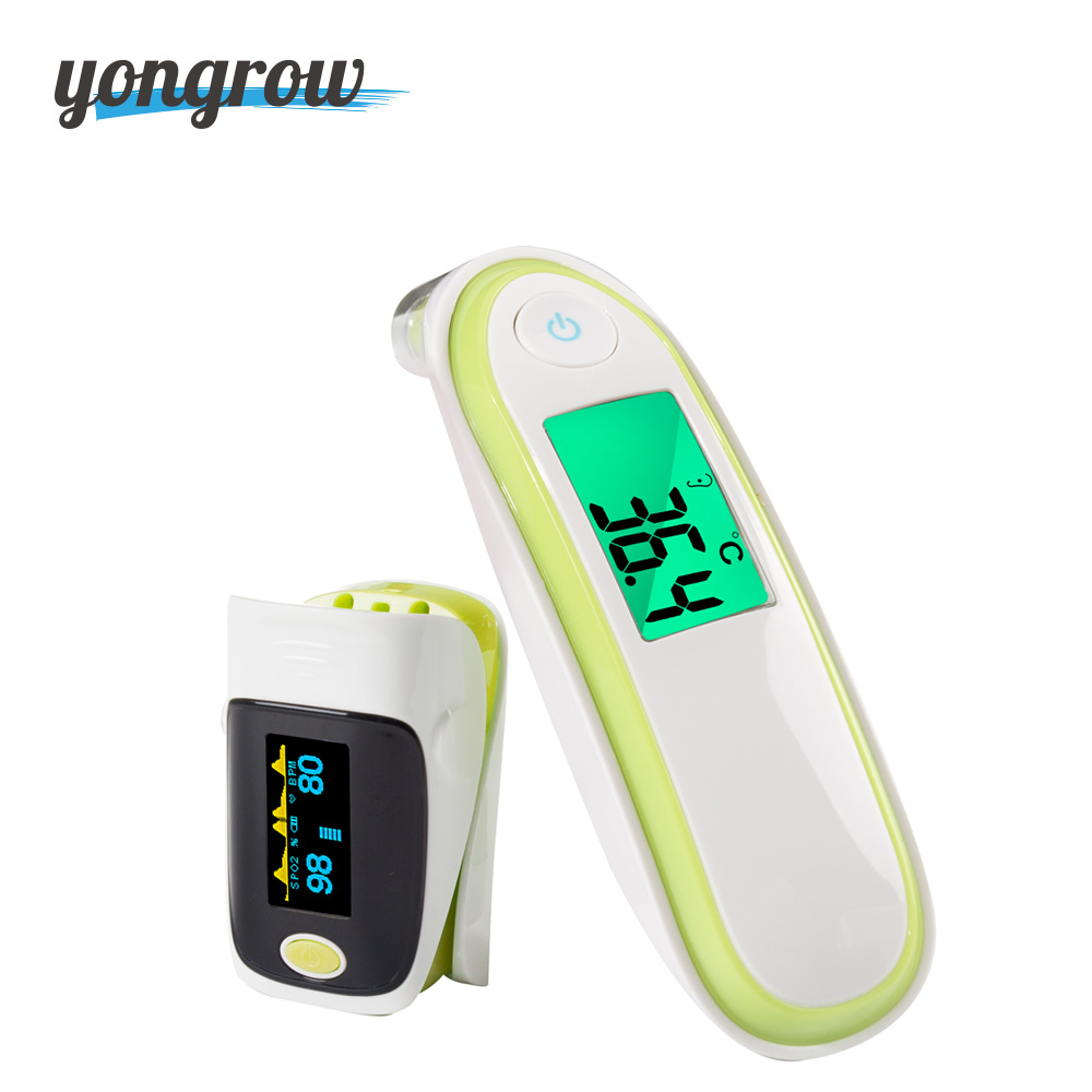 Yongrow Medical Ear Infrared Thermometer Digital And Pediatric Portable Fingertip Pulse Oximeter Spo2 family health yongrow fingertip pulse oximeter