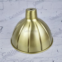 Free ship M10 D180mmX120mm brass material light cover copper cup shade quality E27 lamp shade cover lighting brass shade cone
