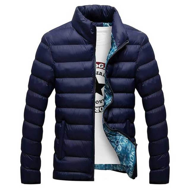 2017 Fashion Men Winter Coat Jackets Casual Wadded Jacket Stand Collar Cotton-padded Jaqueta Masculina Jacket Chaquetas Parkas