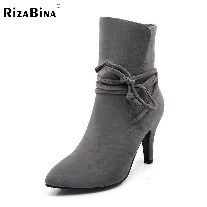 size 34-40 women pointed toe high heel ankle boots cross strap winter warm boot brand sexy botas footwear heels shoes P22033 women pointed toe real genuine leather high heel ankle boots autumn winter wedding boot heels footwear shoes r7976 size 34 39