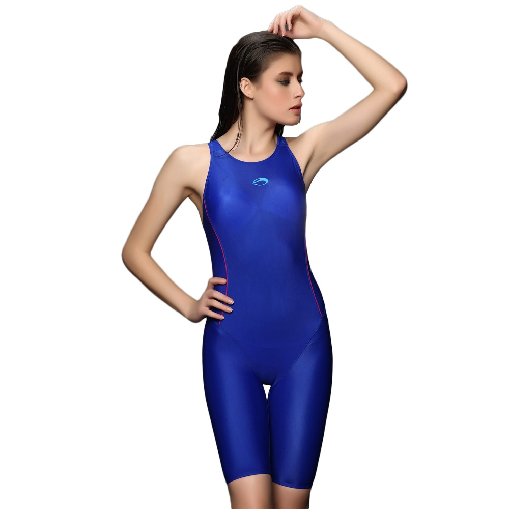 Women Wide Strap Solid Color One Piece Swimwear Training Competition Technical Swimsuit Tech Suit trendy solid color halter pleated one piece skirt swimwear for women