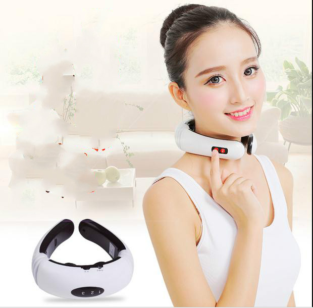 ФОТО Multi-function electric cervical spine massager pain relief traction massage neck massager Acupuncture treatment of magnetic