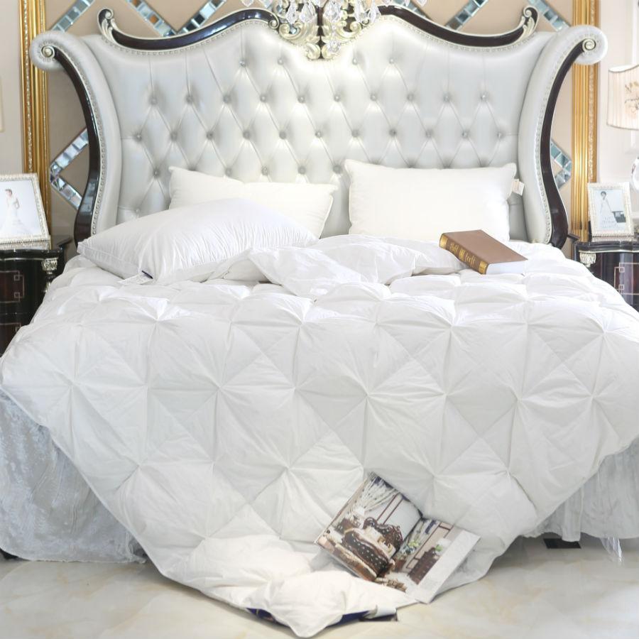 Peter Khanun White Duck/Goose Down Filler 3D Bread Duvet/Quilt/Comforter Bedding Winter Luxury Blankets 100% Cotton Shell 015
