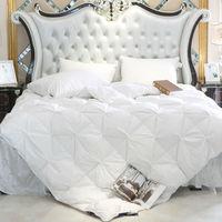 Peter Khanun blanc canard/Duvet d'oie remplissage 3D pain couette/couette/couette literie hiver luxe couvertures 100% coton Shell 015