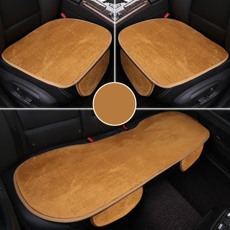 ٩(^‿^)۶Invierno cubierta de felpa asiento de coche Cojines para