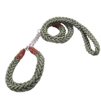 Supply Pet Eight Strands of Rope Belt Special Army Green Leash for Large Dog Golden Retriever Tibetan Mastiff