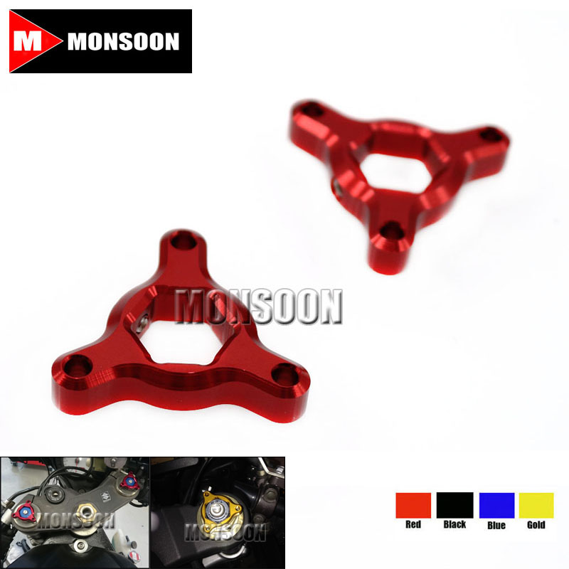 For Honda CBR929RR CBR600RR CBR954RR RC51 CBR1000RR CBR 600RR 1000RR 22mm CNC Aluminum Suspension Fork Preload Adjusters Red прокладки клапанной крышки honda vtr1000f