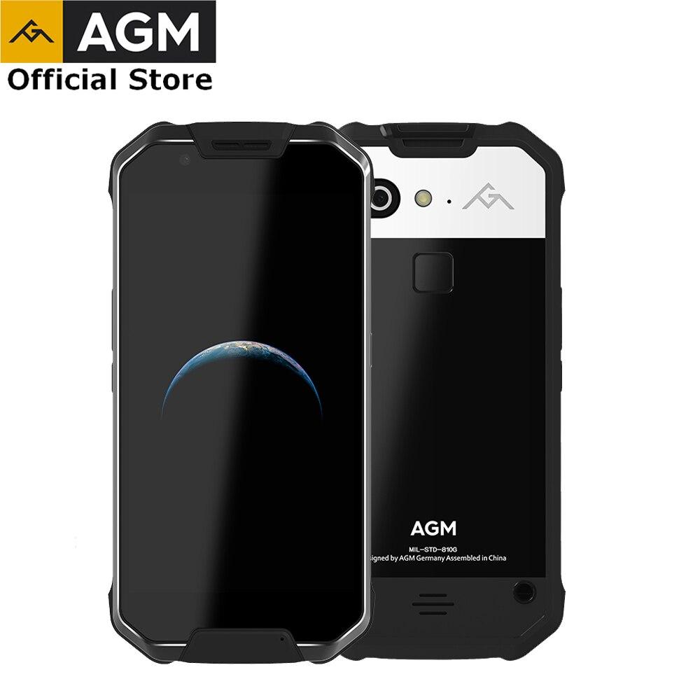 (Liquidation) OFFICIELLES AGM X2 5.5 4g Smartphone 6g + 64g/128 gb Android 7.1 Mobile Téléphone IP68 Étanche Octa Core 6000 mAhNFC COV