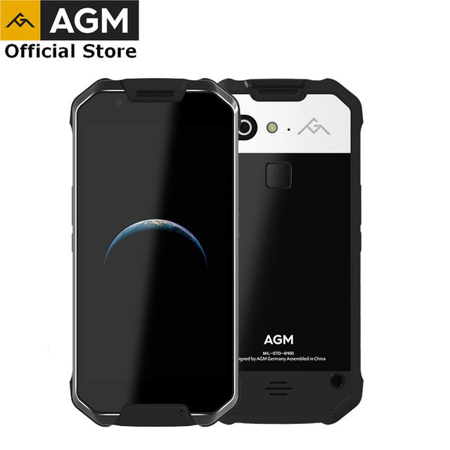 """(Big Discounts)OFFICIAL AGM X2 5.5""""4G Smartphone 6G+64G/128GB Android 7.1 Mobile Phone IP68 Waterproof Octa Core 6000mAhNFC VOC"""