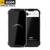 Smartphone officiel AGM X2 5.5 4G 6G + 64G/128GB Android 7.1 téléphone portable IP68 étanche Octa Core 6000mAhNFC cov