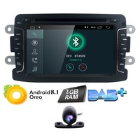 One Din 7 Android 8.1 Car Radio Stereo DVD Player For DUSTER Logan Symbol DOKKER Ladgy GPS Navi Quad Core OBD2 BT WiFi 2GB+Cam