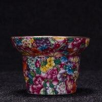 Creative Porcelain Tea Leaves Strainers Hand Painted Enamel Tea Drain Chinese Kung Fu Tea Set Accessories Coffee Milk Filter