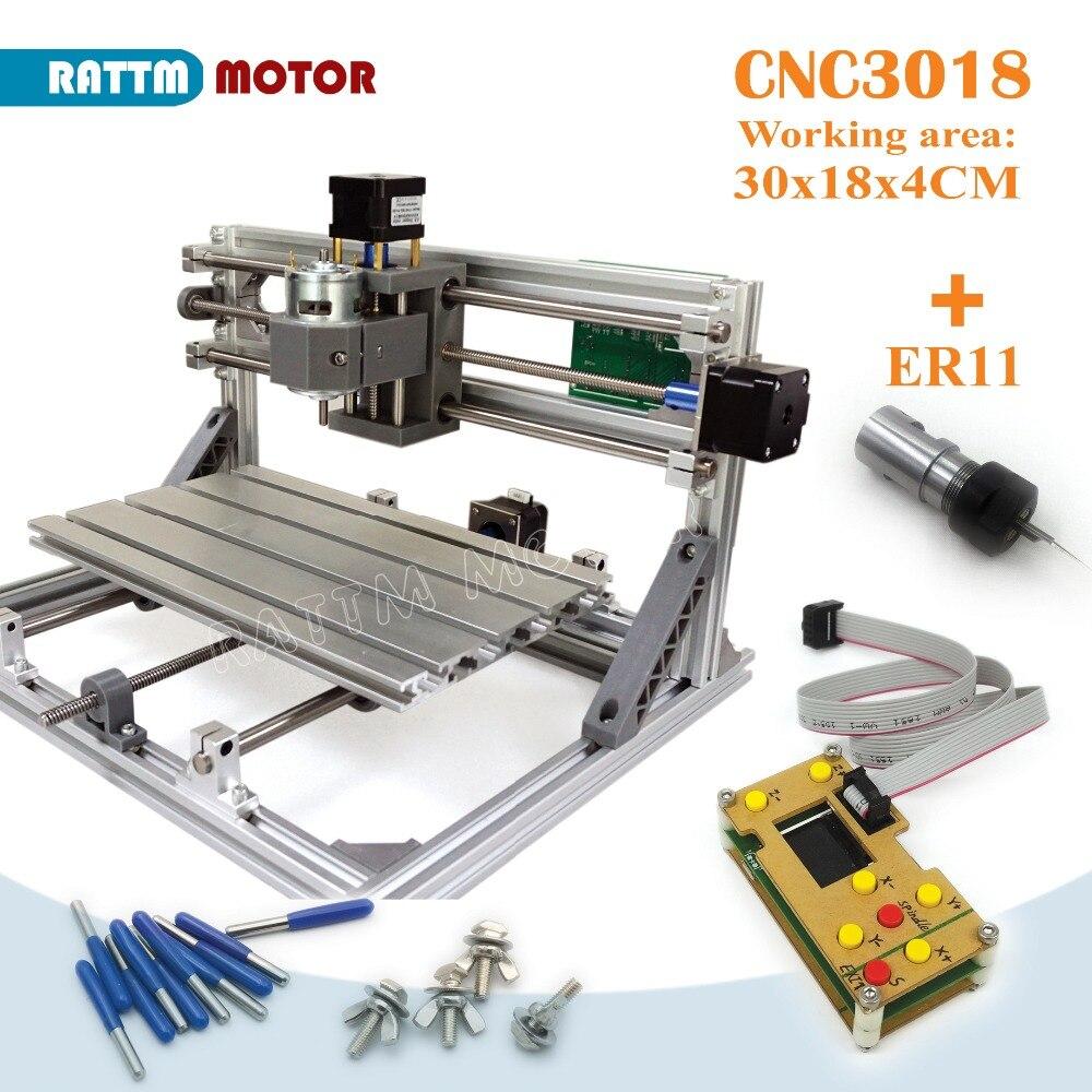 ЕС доставки! CNC 3018 GRBL управления Diy ЧПУ 30x18x4,5 см, 3 оси Pcb ПВХ фрезерный станок wood маршрутизатор лазерная гравировка v2.5