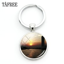 TAFREE The River Mei Nan Scenery Keychain river night scene Key Chain man women boys girls birthday gift beautiful Jewelry FA493(China)