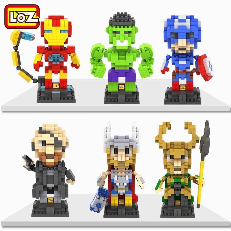LOZ Mini Box Avengers Alliance Guerra Infinita Hawkeye Capitán - Juguetes de construcción - foto 1