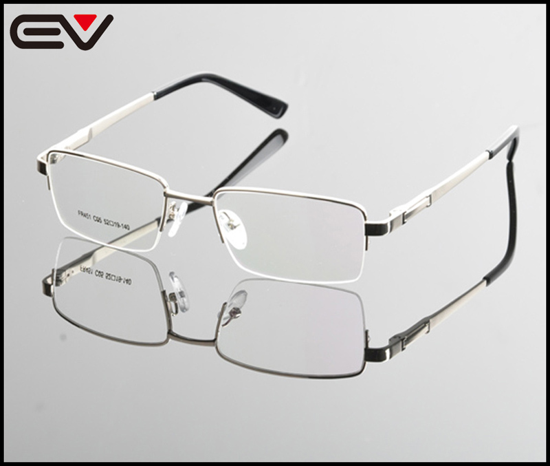 ₩2015 New Eyeglasses Men Brand Optical Frames Half Rim Glasses Metal ...
