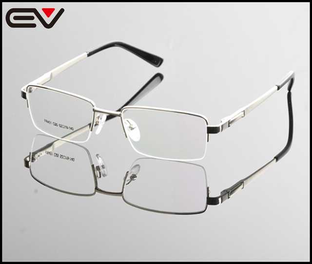 2015 New Eyeglasses Men Brand Optical Frames Half Rim Glasses Metal ...