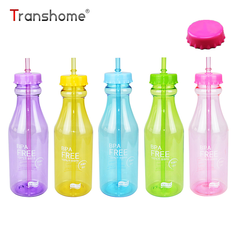 Transhome creative unbreakable soda water bottle 550ml for Creativity with plastic bottles