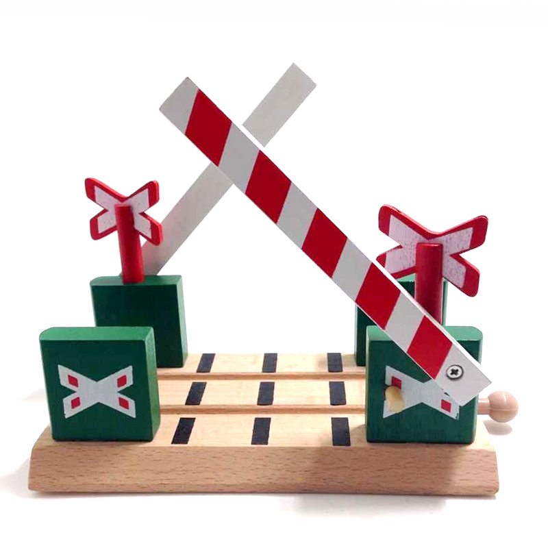 p009 Green wooden Barrier parallel bars train track scene compatible wooden train tracks <font><b>suitable</b></font> <font><b>for</b></font> wood and electric Thomas