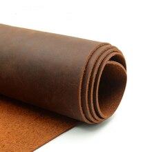Sy herramientas crazy horse cuero vaca primera capa material 2,0-1,0mm grosor 6 tamaño para elegir color naranja oscuro