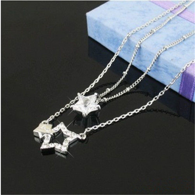 [PCMOS] 2017 New KPOP Drama You're Beautiful Park Shin Hye Jung Yong Hwa Rhinestone Star Necklace Collection 16051428