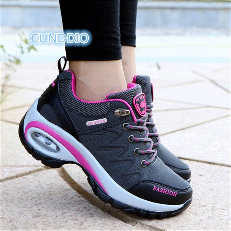 Sneakers Women Outdoor Casual shoes Leather suede Brand outdoor non-slip air damping fashion woman shoes tenis feminino EU 35-40