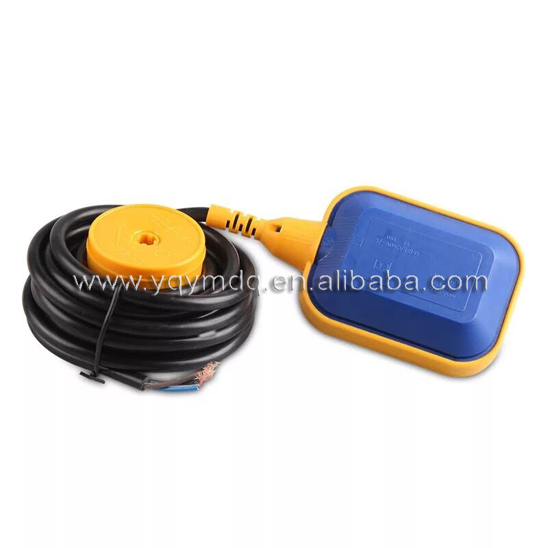 Float switch 2M wire liquid level pressure switch rectangle IP68 220V 10A copper wire Water Level control water pump float ball 4a 8a level float switch pp water level control for water pump water tower tank normally closed