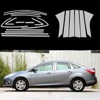 Samochód stylizacji Pełne Okno Taśmy Wykończenia Dekoracji Taśmy Dla Ford Focus 3 Sedan 2012 2013 2014 Auto tapicerka Car Styling Car-covers 20