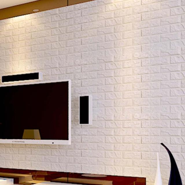 60*30 Cm 3D Mauer Papier Moderne Vintage Ziegel Stein Muster Papier  Tapetenbahn Für Wohnzimmer