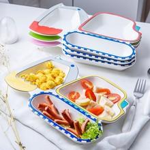 Nuovi articoli per la tavola Articoli per la tavola per bambini Escavatore creativo Modellazione di piatto per la colazione Bella casa in ceramica Piatto per bambini